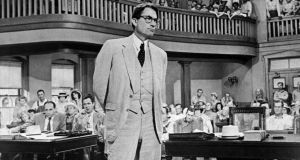 Gregory Peck as attorney Atticus Finch, who says: 'Before I can live with other folks I've got to live with myself.' Image: AP Photo