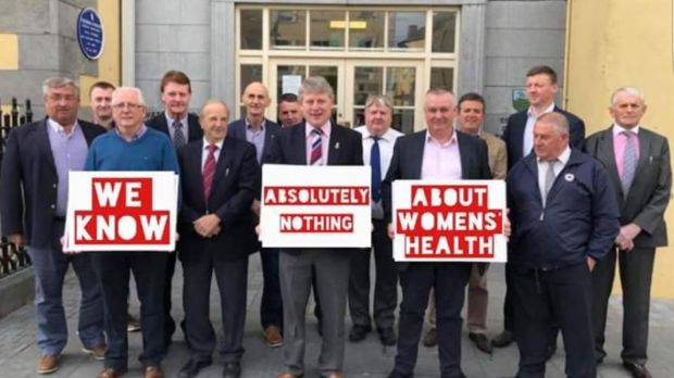 One of the mocked-up versions of the photograph of the councillors that appeared on social media before the referendum