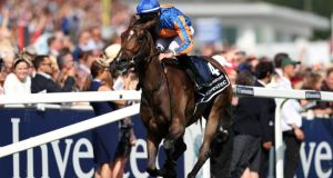 Forever Together and Donnacha O'Brien win the Epsom Oaks. Photograph: David Davies/PA