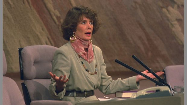 Annie Murphy, who presided over Ireland's first big church scandal, appeared on The Late Late Show in 1993.