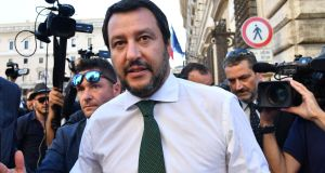 Italys interior minister and deputy prime minister Matteo Salvini. Photograph Solaro Andreas/AFP/Getty Images
