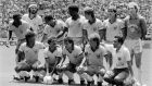 Josimar (back left) and his Brazil teammates ahead of their 1986 World Cup quater-final against France. Photograph: Stringer/AFP/Getty