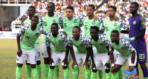 The new Nigerian football kit is a big seller. Photograph: Afolabi Sotunde/Reuters
