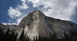 El Capitan, which looms 3,000ft (914 m) above the floor of Yosemite Valley, is considered a world-class challenge for rock climbers. Photograph: Getty
