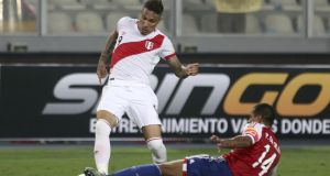 Paolo Guerrero: Peru's captain was cleared last week to play at the World Cup   despite a 14-month ban for a positive cocaine test. Photograph: Raul Sifuentes/LatinContent/Getty Images