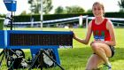Sarah Healy broke Ciara Mageean's 1,500m record in Tullamore on Sunday. Photograph: Sam Barnes/Sportsfile