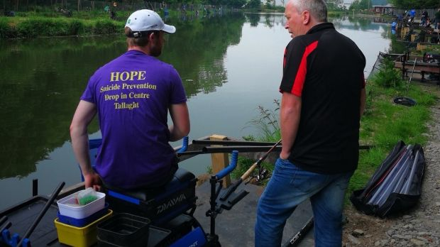 Gordon Hill (left) and Stephen O'Flanagan at Pieta-Hope outing to Oaklands Fishery, New Ross