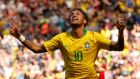 Neymar scored on his return from injury as Brazil beat Croatia 2-0. Photograph: Andrew Yates/Reuters