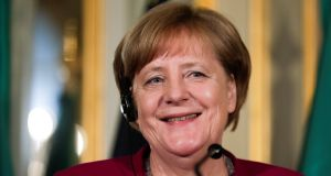 German chancellor Angela has congratulated Italian PM Giuseppe Conte in a phone call and invited him for talks in Berlin. Photograph: Reuters