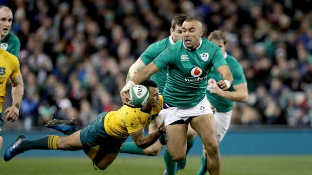 Will Genia tackles Simon Zebo during Ireland's win over the Wallabies in Dublin in 2016. Photograph: Morgan Treacy/Inpho