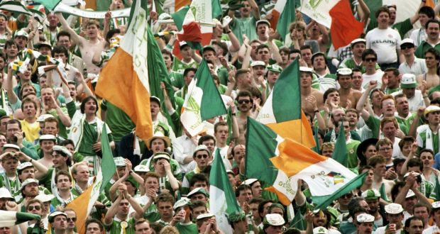 ecf5e3d1e7 Republic of Ireland fans at the European Championships in 1988. Photograph   Billy Stickland