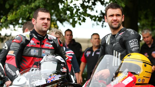 Michael and his brother William at last year's Goodwood Festival of Speed. Photo: Getty Images