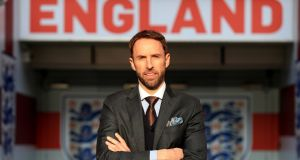 "Gareth Southgate: ""I think we know where we are, we're a team ranked 13th in the world.""  Photograph:  Adam Davy/PA"