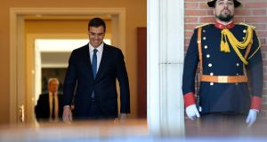 "Spanish prime minister Pedro Sánchez: he has been  accused of being a ""Frankenstein"", created by ""separatist and communist hordes"". Photograph: Getty Images"