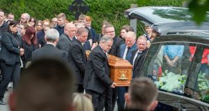 Cameron Reilly's funeral in Dunleer, Co Louth. Photograph:  Ciara Wilkinson