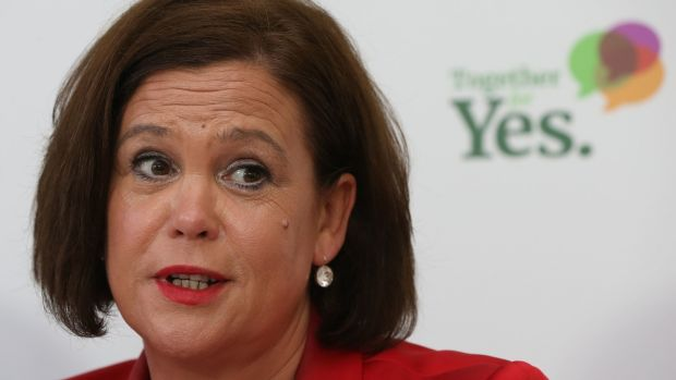 Mary Lou McDonald said that she expected to talk to both Fianna Fáil and Fine Gael about forming a government. Photograph: Niall Carson/PA Wire