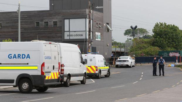 The scene of the shooting at Bray Boxing Club, Co Wicklow this morning. Photograph: Nick Bradshaw