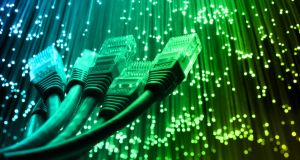 The number of households in Ireland with ultra-fast broadband has increased from 2.5 per cent to 18 per cent, but the EU target for 2020 at 50 per cent is beyond reach. Photograph: iStock