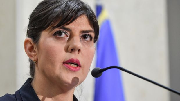 The head of Romania's National Anticorruption Directorate (DNA), Laura Codruta Kovesi: her team has been hailed internationally for prosecuting powerful figures. Photograph: Daniel Mihailescu/AFP/Getty Images