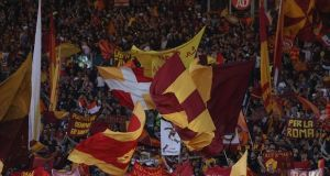 Roma fans will be absent from their next European away game. Photo: Paolo Bruno/Getty Images