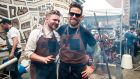 Niall Davidson (left) the Irish chef  behind Nuala restaurant and Irish bar in London, and Liam Kirwan, chef at Mikey Ryan's in Cashel, who will be cooking  at Guinness X Meatopia in Dublin