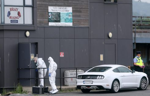 FATAL SHOOTING: Gardaí at the scene of a triple shooting in the early hours of Tuesday morning at Bray Boxing Club. One man died, while the father of champion boxer Katie Taylor, Pete Taylor, was among the injured.  Photograph: Colin Keegan/Collins Dublin