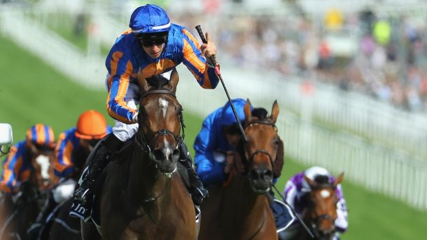 Donnacha O'Brien riding Forever Together wins the Investec Oaks at Epsom Downs last Friday. Photograph: Warren Little/Getty Images