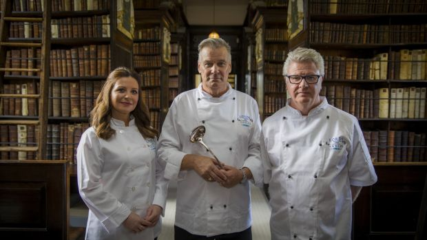 Catherine Fulvio, Derry Clarke and Paul Flynn in the new series of 'Lords and Ladles'