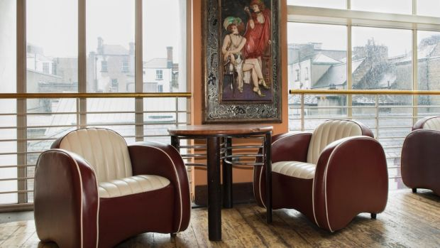 Morris Minor art-deco armchairs from Cafe en Seine, for sale at the Heritage Hotel, Killenard, Co Laois. Photograph: Michael Donnelly.