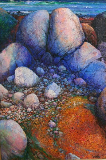 'Maiden Rocks Coral strand Connemara by Kenneth Webb (oil on canvas)