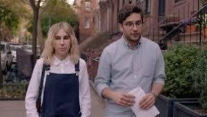 Floored relationship: Zosia Mamet and Matthew Shear in The Boy Downstairs