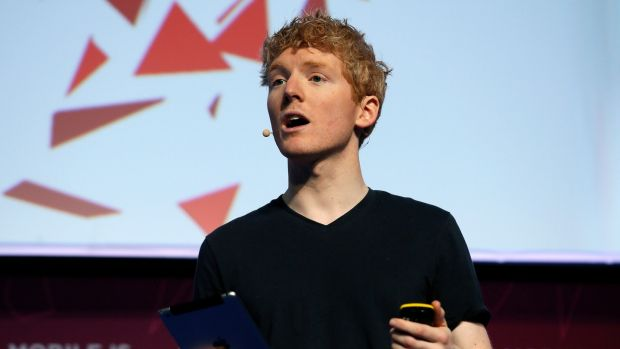 Patrick Collison, co-founder and CEO at Stripe: Looked up the internet in his local library. Photograph: Albert Gea/Reuters