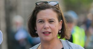 The declaration by Sinn Féin leader Mary Lou McDonald that she is open for coalition with either Fine Gael or Fianna Fail is a clear attempt to position the party at the centre of debate in the next general election campaign. Photograph: Gareth Chaney/Collins
