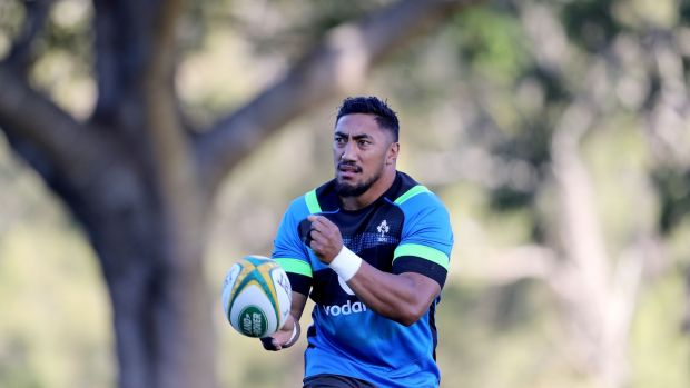 Ireland's Bundee Aki during training at Royal Pines Resort, Gold Coast, Queensland on Tuesday. Photograph: Dan Sheridan/Inpho