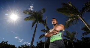 Bundee Aki at Tuesday's Ireland Rugby press conference, Royal Pines Resort, Gold Coast, Queensland. Photograph: Dan Sheridan/Inpho