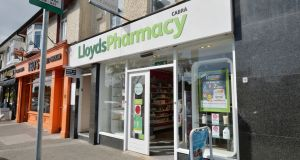 More than 200 staff in 50 Lloyds Pharmacy stores  will strike on Thursday, June 14th. Photograph: Alan Betson / The Irish Times