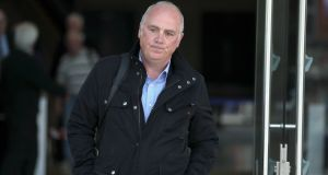 Former Anglo Irish Bank executive David Drumm outside Dublin's Central Criminal Court, after he was found guilty of two fraud charges. Photograph: Brian Lawless/PA Wire