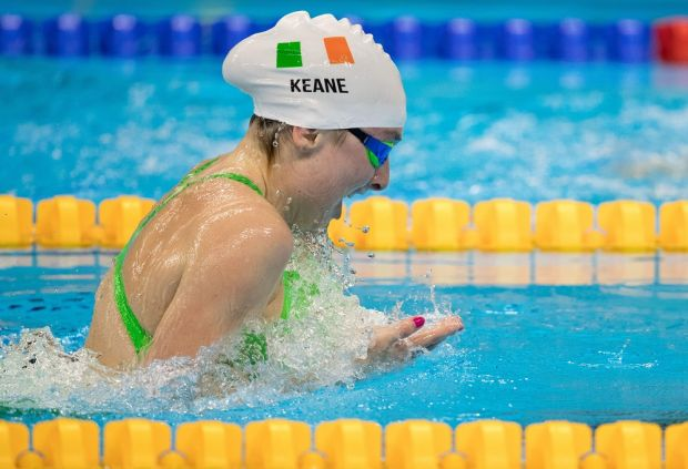 Ellen Keane competes in the women's 100m breaststroke - SB8 final during the Paralympic Games in Rio de Janeiro in September, 2016. Photograph: Al Tielemans for OIS/IOC via AFP