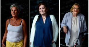 Unshamed Magdalenes: among the women who met President Michael D Higgins last year were Rita Lawlor, from Raheny in Dublin, Sally Donohoe, from Ballymun in Dublin, and Catherine Mary O'Connor, from Julianstown, in Co Meath. Portraits by Cyril Byrne