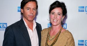 Andy and Kate Spade who married 24 years ago and started the brand Kate Spade together in 1993. File photograph: Getty Images