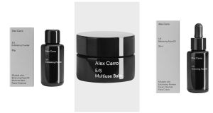 This skincare line of just five products, chicly packaged in black has no obvious claims to a particular gender