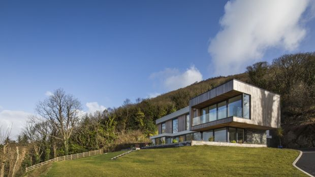 Newly constructed house at Fahan Co Donegal designed by Shane Birney Archiects
