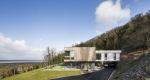 Newly constructed house at Fahan, Co Donegal, designed by Shane Birney Archiects