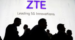 ZTE was banned from sourcing US components in April after it was caught violating US sanctions on Iran and North Korea. Photograph: Sergio Perez/Reuters