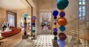 The colourful plaster sculptures of Annie Morris in the Louis Vuitton flagship in Place Vendome, Paris