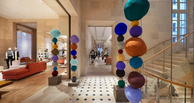 1965b9c03c4d The colourful plaster sculptures of Annie Morris in the Louis Vuitton  flagship in Place Vendome