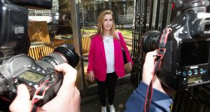 Vicky Phelan arriving at the Dáil. She succesfully sued a US laboratory after she received incorrect results from a cervical cancer test. File photograph: Nick Bradshaw