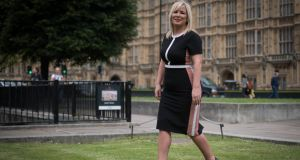Sinn Féin deputy leader Michelle O'Neill in Westminster, London on Thursday where the  UK Supreme Court ruled on  Northern Ireland's abortion law. Photograph: Stefan Rousseau/PA Wire
