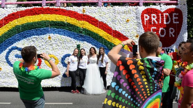 The Dublin Pride Parade takes place in Dublin city on June 30th. Photograph: Dara Mac Dónaill / The Irish Times