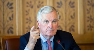 "EU chief Brexit negotiator Michel Barnier:  tweeted a general welcome with reservations about the ""#UK proposal on customs aspects of IE/NI backstop"". Photograph: Balazs Mohai"